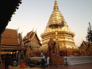 Doi Suthep on Buddha Day, or our night out during the meditation retreat.