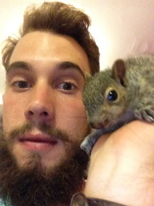 Squirrel and I on the night of my birthday.