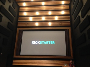 Kickstarter has a movie room and it's huge.